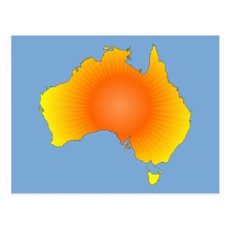 Mapa soleado de Australia Postales