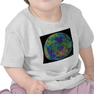 Mapa superficial de la elevación del planeta Venus Camisetas