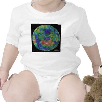 Mapa superficial de la elevación del planeta Venus Trajes De Bebé