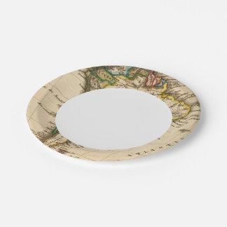 Mapa suramericano plato de papel de 7 pulgadas