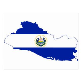 Mapa SV de la bandera de El Salvador Tarjeta Postal