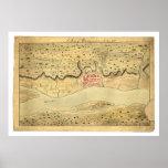 Mapa temprano 1758 de Albany Nueva York Póster