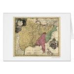 Mapa temprano 1763 de América Tarjeta De Felicitación