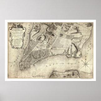 Mapa temprano 1776 de New York City Impresiones
