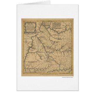 Mapa temprano de Kentucky - 1784 Tarjeta De Felicitación