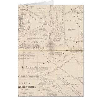 Mapa, territorio indio al sur de la región de Pamp Tarjeta De Felicitación