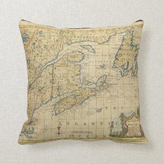 Mapa Thomas Kitchin de Nueva Inglaterra 1758 y de  Almohada