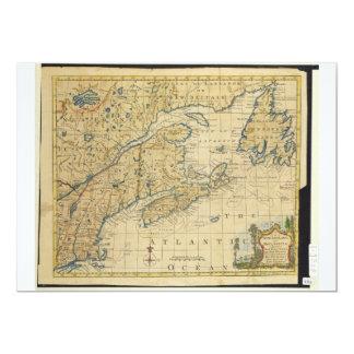 """Mapa Thomas Kitchin de Nueva Inglaterra 1758 y de Invitación 5"""" X 7"""""""