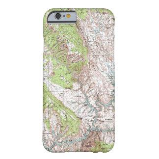 mapa topográfico de 1 x 2 grados funda barely there iPhone 6
