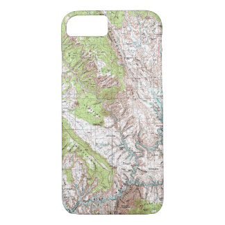 mapa topográfico de 1 x 2 grados funda iPhone 7