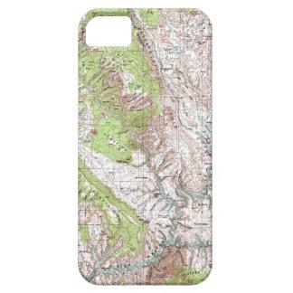 mapa topográfico de 1 x 2 grados funda para iPhone SE/5/5s