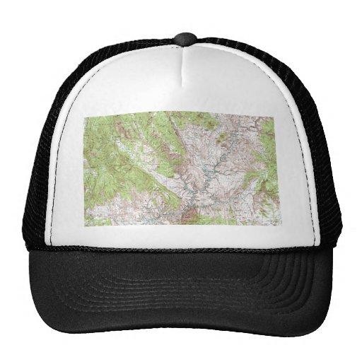 mapa topográfico de 1 x 2 grados gorra