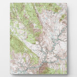 mapa topográfico de 1 x 2 grados placa para mostrar