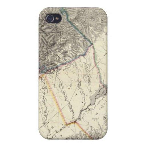 Mapa topográfico de California central iPhone 4/4S Carcasa