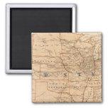 Mapa topográfico de los Estados Unidos Imanes De Nevera