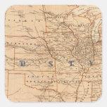 Mapa topográfico de los Estados Unidos Pegatinas Cuadradases