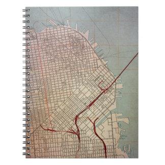 Mapa topográfico del este de San Francisco Libretas
