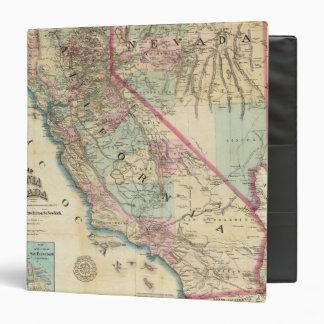 Mapa topográfico del ferrocarril y del condado, Ca