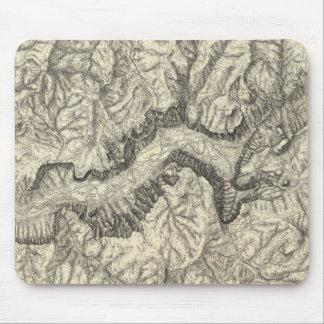 Mapa topográfico del valle de Yosemite Mouse Pads