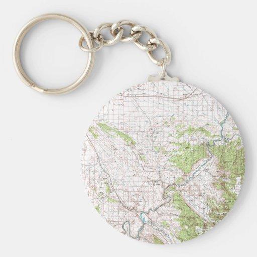 Mapa topográfico llavero redondo tipo pin