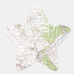 Mapa topográfico pegatina en forma de estrella