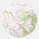Mapa topográfico pegatina redonda