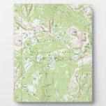 Mapa topográfico placa de madera