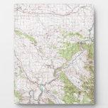 Mapa topográfico placas de plastico