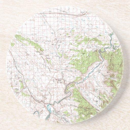 Mapa topográfico posavasos personalizados