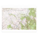 Mapa topográfico postales