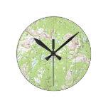 Mapa topográfico reloj