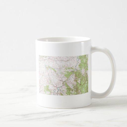 Mapa topográfico taza de café