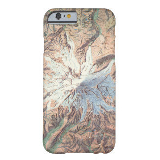 Mapa topográfico Washington del Monte Rainier del Funda Barely There iPhone 6