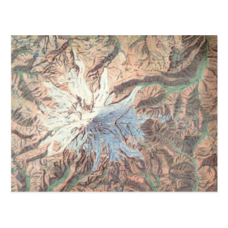 Mapa topográfico Washington del Monte Rainier del Tarjeta Postal