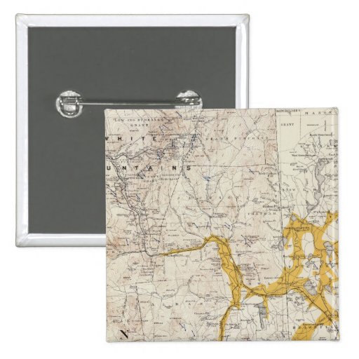 Mapa topográfico y glacial de New Hampshire 2 Pins