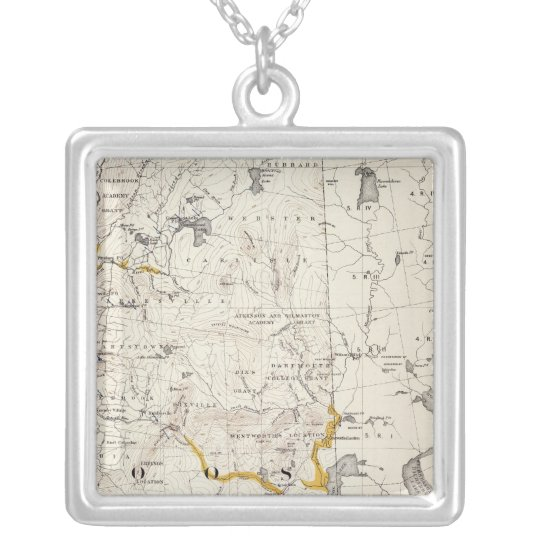 Mapa topográfico y glacial de New Hampshire 3 Collar Plateado