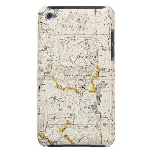 Mapa topográfico y glacial de New Hampshire 3 iPod Case-Mate Protector