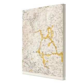 Mapa topográfico y glacial de New Hampshire Lona Estirada Galerías