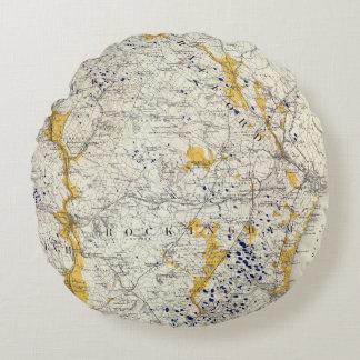 Mapa topográfico y glacial de New Hampshire
