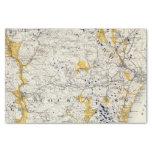 Mapa topográfico y glacial de New Hampshire Papel De Seda Pequeño