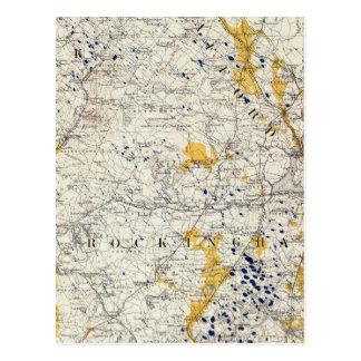 Mapa topográfico y glacial de New Hampshire Postal