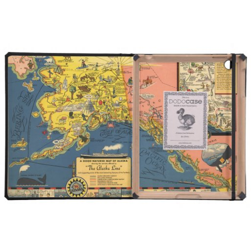 Mapa turístico del vintage de Alaska