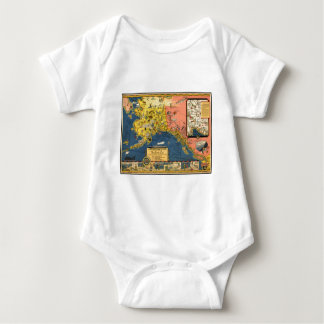 Mapa turístico del vintage de Alaska Tee Shirts