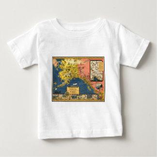 Mapa turístico del vintage de Alaska Camiseta