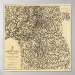 Mapa V que ilustra las operaciones militares Impresiones
