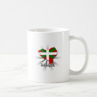 Mapa vasco 2,0 de la bandera taza de café