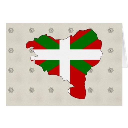 Mapa vasco de la bandera del mismo tamaño felicitaciones
