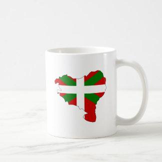 Mapa vasco de la bandera del mismo tamaño tazas de café