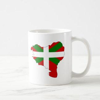 Mapa vasco de la bandera taza de café