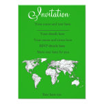 Mapa verde claro invitación 12,7 x 17,8 cm